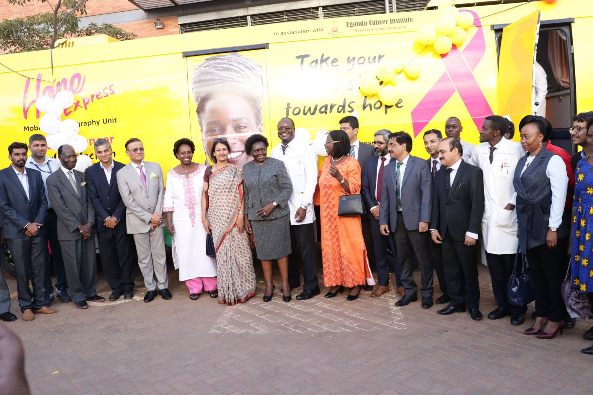 HANDOVER OF THE MOBILE MAMMOGRAPHY VAN AT UGANDA CANCER INSTITUTE